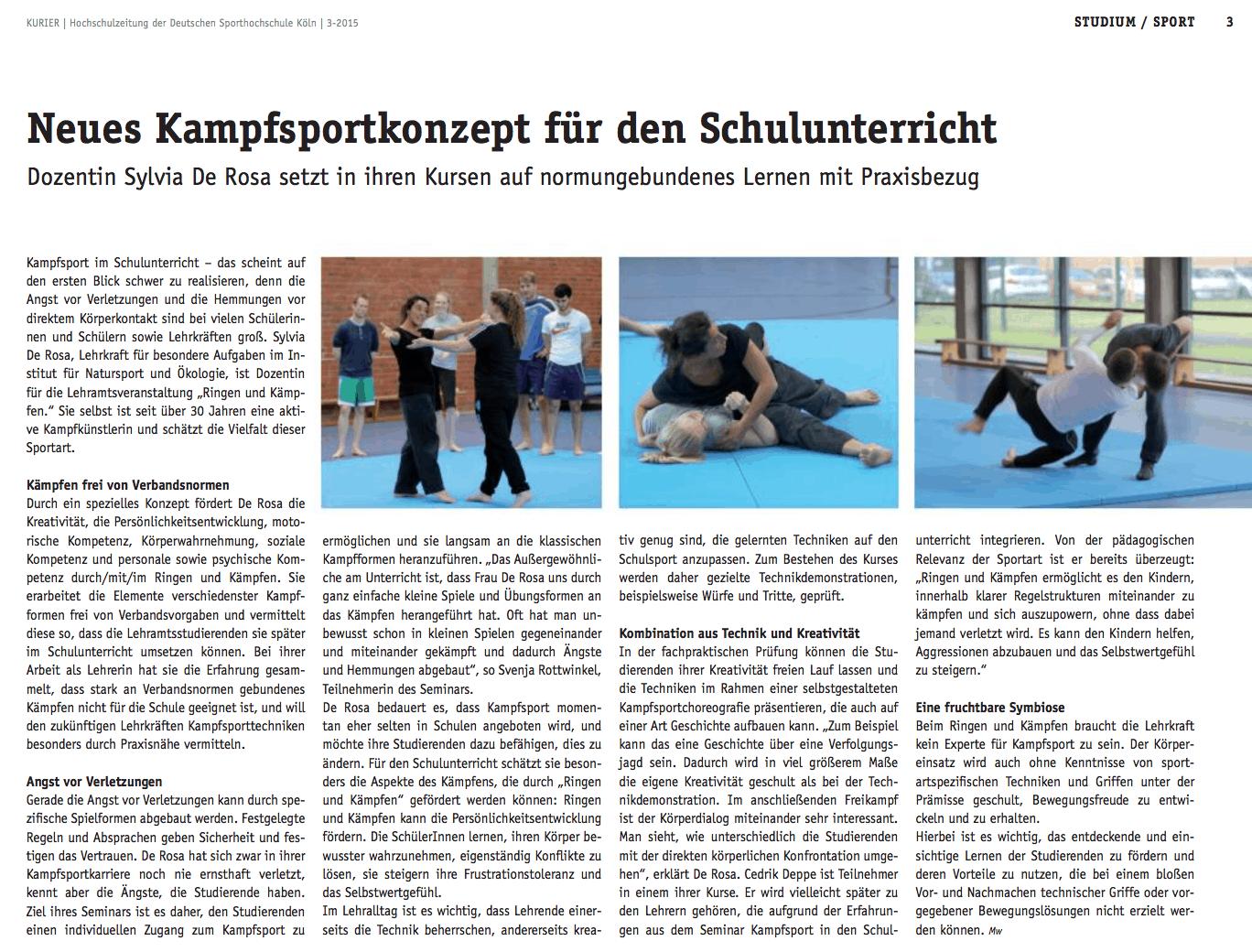 Neues Kampfsportkonzept für den Schulunterricht